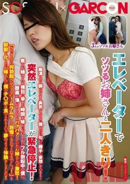 GS-294 Studio SOSORU X GARCON - I'm Stuck In An Elevator With A Hot Elder Sister Type! I Don't Have The Courage To Become A Monster And Fuck Her, So I Was Enjoying A Daydream Fantasy While Sniffing Her Nice Smell, When Suddenly The Elevator Stopped! This Elder Siste